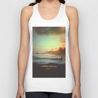 paradise Tank Tops featuring Paradise by Polishpattern