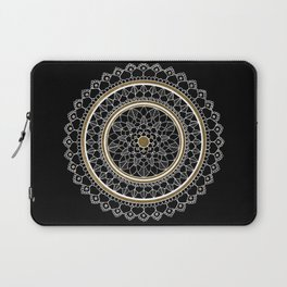 Black and Gold Mandala Laptop Sleeve