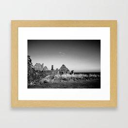 Ruins by the Sea Framed Art Print