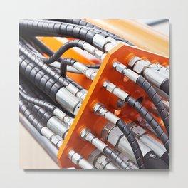 Hoses of hydraulic machine Metal Print