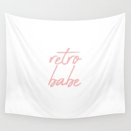 Retro Babe Pink Wall Tapestry