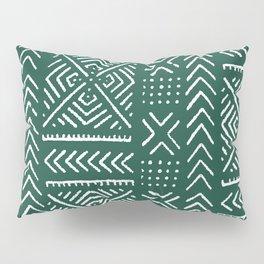 Line Mud Cloth // Brunswick Green Pillow Sham