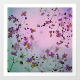 Vintage Little Flowers Art Print