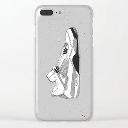 Jordan 4 White Cement Clear iPhone Case
