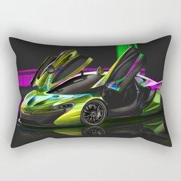 McLaren P1 Digital Painting   McLaren   Automotive   Car Rectangular Pillow