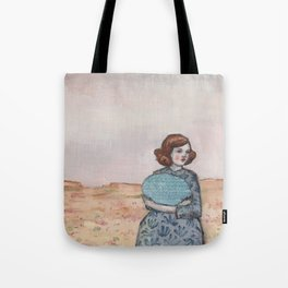 she held tight to her memory of the sea Tote Bag