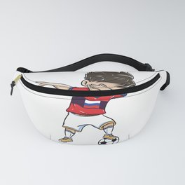 Dabbing Soccer Player Funny Russia Fan graphic boy Fanny Pack