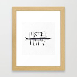 Tag on fish II Framed Art Print