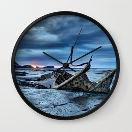 Lights Out on Admiral Von Tromp Wall Clock