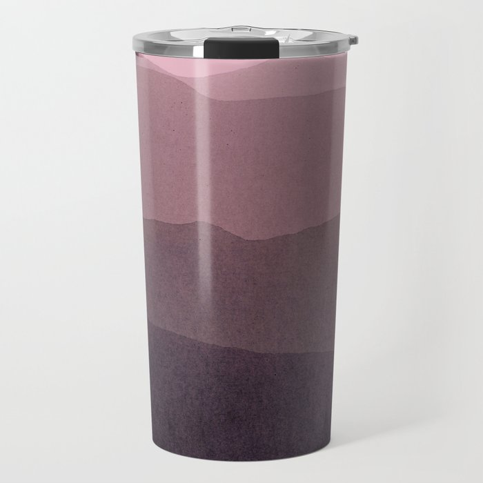 gradient landscape purple Travel Mug