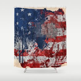 map USA  Shower Curtain