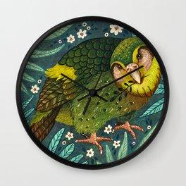 Kakapo Wall Clock
