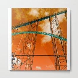 Towering Tracks Metal Print