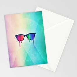 Love Wins! Rainbow - Spectrum (Pride) / Hipster Nerd Glasses Stationery Cards