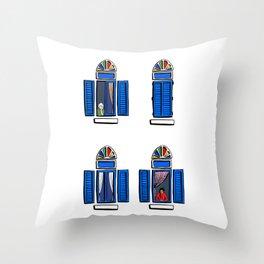 Four Windows, Beirut Throw Pillow