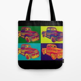 Colorful 1951 Ford F-1 Pickup Truck Pop Art  Tote Bag