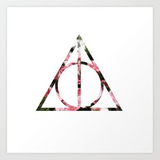 The Girly & Deathly Hallows Art Print