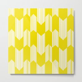 Yellow  Boho Arrows Metal Print