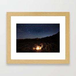 Joshua Tree Campfire Stories Framed Art Print