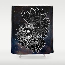 Space Owl Shower Curtain