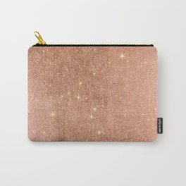 Modern elegant rose gold faux glitter pattern Carry-All Pouch