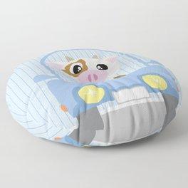 Mobil series car cow Floor Pillow