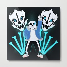 Sans the Skeleton Metal Print