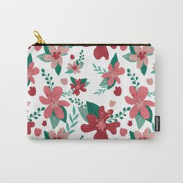 Pretty Flower pattern valentaine color palette red pink Tiffany colors  Carry-All Pouch