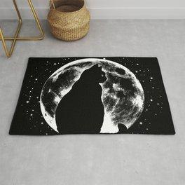 Cat Moon Silhouette Rug
