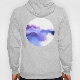 Purple Sky, White Light - abstract Hoody