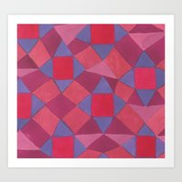 quilt Art Prints featuring Quilt by leah reena goren