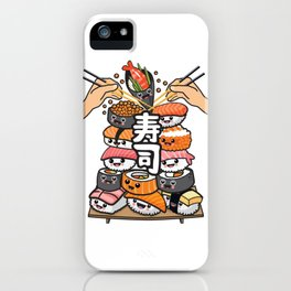 Sushi fight iPhone Case