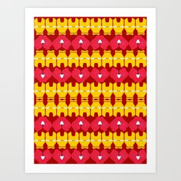 Iron Man Pattern Art Print