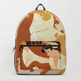 Vintage French Dog Food Poster Backpack