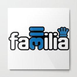 Familia - Blue Metal Print