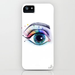 Eye see rainbows iPhone Case