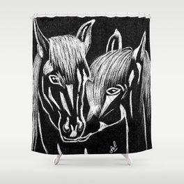 Horses love Shower Curtain