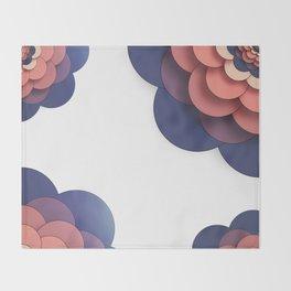 Floral // Border Throw Blanket