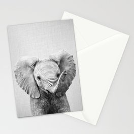 Baby Elephant - Black & White Stationery Cards