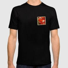 Grunge sticker of Turkey flag MEDIUM Black Mens Fitted Tee