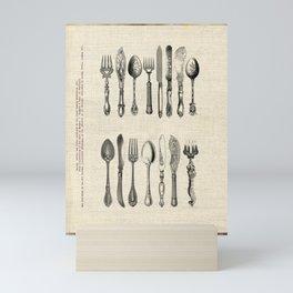 antique cutlery Mini Art Print