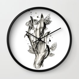 Flying Fishes Pets Wall Clock