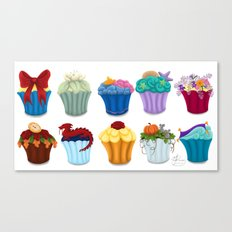 The Princess Cupcake Collection  Canvas Print