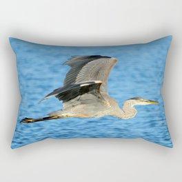 Skimming the lake Rectangular Pillow