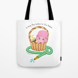 It puts the lotion in the basket. // Silence of the Lambs Tote Bag