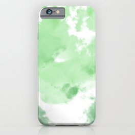 Emerald Green Tie Dye iPhone Case