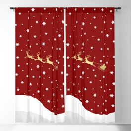 Red Christmas Santa Claus Blackout Curtain