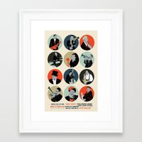 jazz Framed Art Prints featuring Jazz  by Prelude Posters