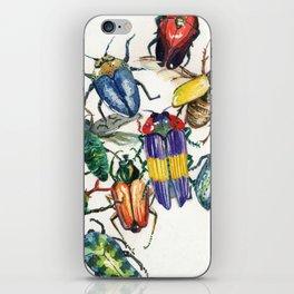 Watercolor Beetles iPhone Skin