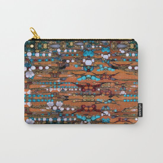Abstract Indian Boho Carry-All Pouch